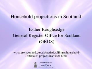 Household projections in Scotland
