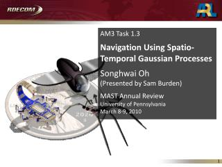 AM3 Task 1.3 Navigation Using Spatio-Temporal Gaussian Processes Songhwai Oh