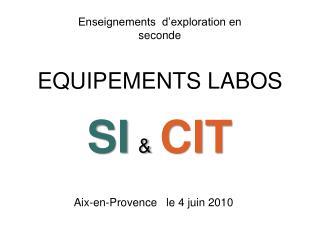 SI & CIT