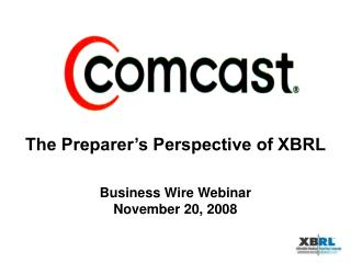 Business Wire Webinar November 20, 2008