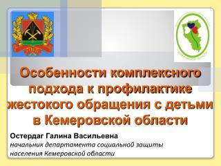 Особенности комплексного подхода к профилактике жестокого обращения с детьми в Кемеровской области