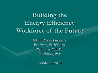 Building the  Energy Efficiency Workforce of the Future
