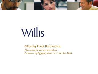 Offentlig  Privat Partnerskab Risk management og risikodeling