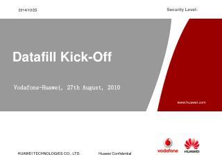 Datafill Kick - Off