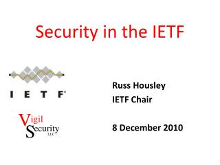 Security in the IETF