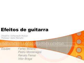 Efeitos de guitarra