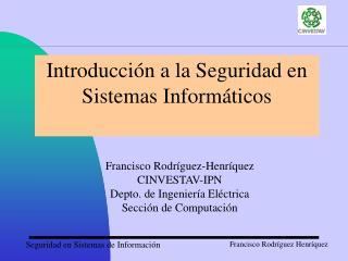 Introducción a la Seguridad en Sistemas Informáticos
