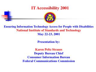 IT Accessibility 2001