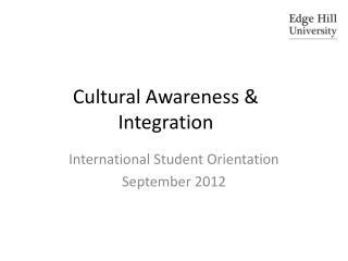 Cultural Awareness & Integration