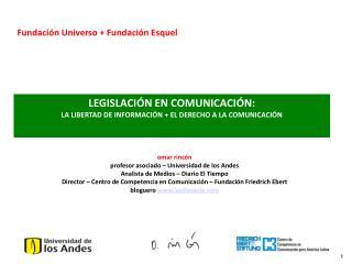 LEGISLACIÓN EN COMUNICACIÓN:  LA LIBERTAD DE INFORMACIÓN + EL DERECHO A LA COMUNICACIÓN