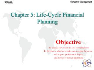 Chapter 5: Life-Cycle Financial Planning