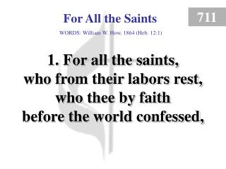 For All the Saints (1)