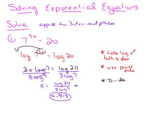 AFM Solving Exp eq with logs