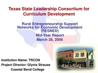 Texas State Leadership Consortium for Curriculum Development
