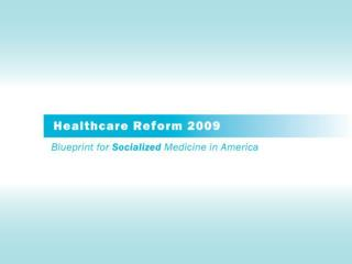 What Is Driving Health Care Reform?