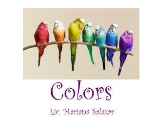 Colors Lic. Mariana Salazar