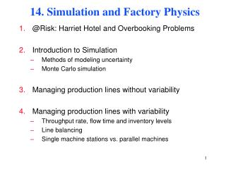 14. Simulation and Factory Physics
