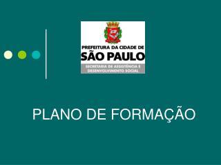PLANO DE FORMAÇÃO