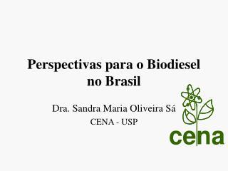 Perspectivas para o Biodiesel no Brasil