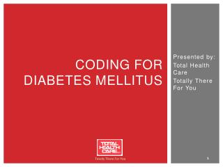 Coding for Diabetes Mellitus