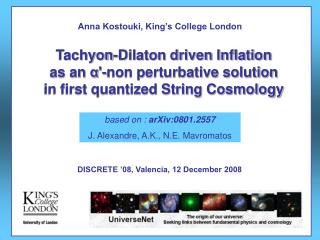 Tachyon-Dilaton driven Inflation  as an  α '-non perturbative solution
