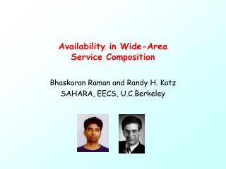Availability in Wide-Area Service Composition