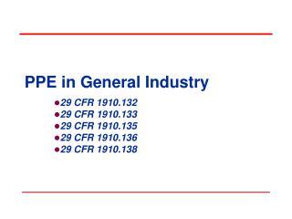 PPE in General Industry