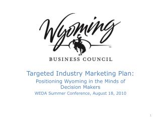 Targeted Industry Marketing Plan: Positioning Wyoming in the Minds of Decision Makers