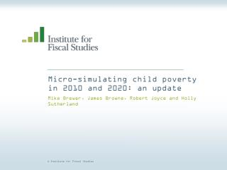 Micro-simulating child poverty in 2010 and 2020: an update