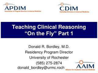"Teaching Clinical Reasoning ""On the Fly"" Part 1"