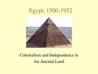 Egypt, 1500-1952