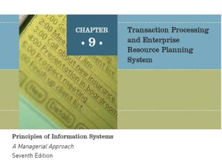 An Overview of Transaction Processing Systems