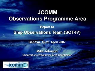 JCOMM Observations Programme Area
