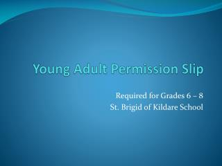 Young Adult Permission Slip