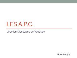 Les A.P.C.