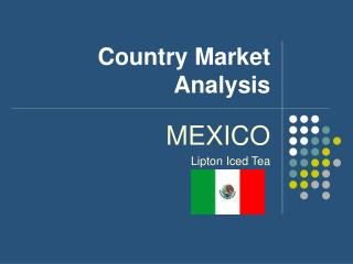 Country Market Analysis