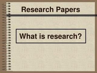 Research Papers