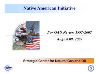 Native American Initiative