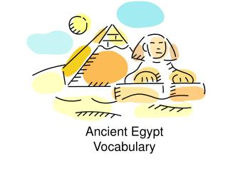 Ancient Egypt Vocabulary