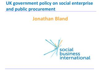 UK government policy on social enterprise and public procurement