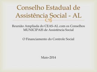 Conselho Estadual de Assistência Social - AL