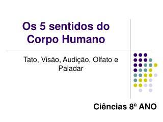 Os 5 sentidos do Corpo Humano