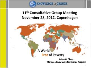 11 th  Consultative Group Meeting November 28, 2012, Copenhagen