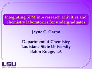 Integrating SPM into research activities and  chemistry laboratories for undergraduates