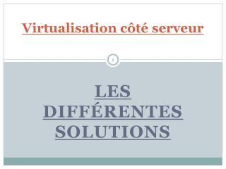 Virtualisation côté serveur