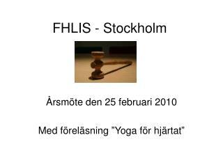 FHLIS - Stockholm