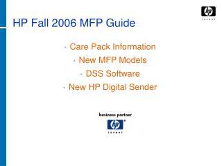 HP Fall 2006 MFP Guide