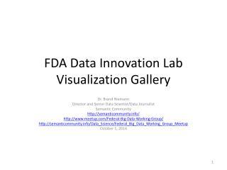 FDA Data Innovation Lab Visualization Gallery