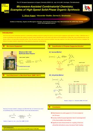 Microwave-Assisted Combinatorial Chemistry. Examples of High-Speed Solid-Phase Organic Synthesis