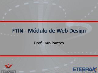 FTIN - Módulo de Web Design